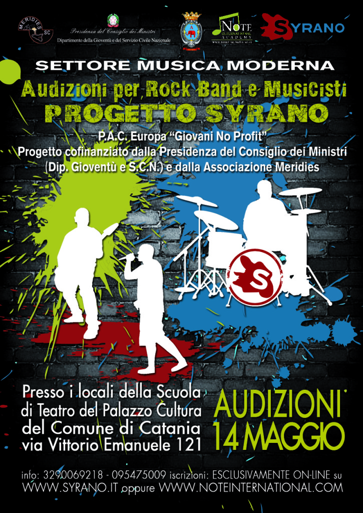 AUDIZIONI BAND Flyer
